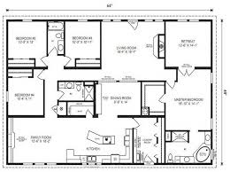 Fleetwood Triple Wide Mobile Home Floor Plans by 4 Bedroom Mobile Home Plans Stylish Art 5 Modular Four Homes L 11