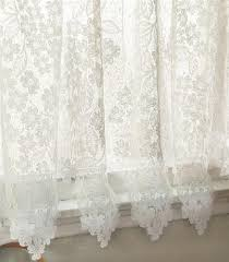 Tier Curtains 24 Inch by Delightful Dogwood Flower Lace Curtain Tier Ecru Or White 24 Inch