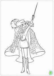 Barbie In The Three Musketeers Coloring Pages