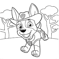 Jungle Pup Tracker PAW Patrol Colouring Page
