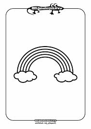 Simple Drawing For Kindergarten Rainbow Shapes Easy Coloring Pages Toddlers