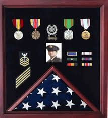 Retirement Flag And Badge Display Case Photo