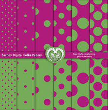 Barney Inspired Digital Polka Papers Purple And Green Printable Scrapbook Patterns