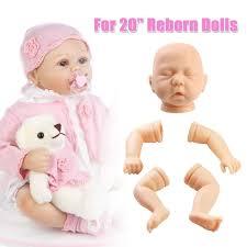 Amazoncom SM SunniMix Unpainted Soft Silicone 22inch Reborn Baby
