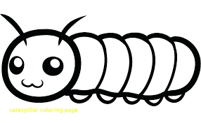 Caterpillar Coloring Page With Hungry Fruit Pages Little