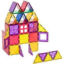 magna tiles clear colors 48 piece dx set amazon co uk toys games