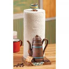 Offeepot Coffee Themed Kitchen Paper Towel Holder Decor