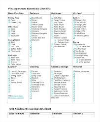 First Apartment Essentials Checklist Checklistfirst Squawkfox