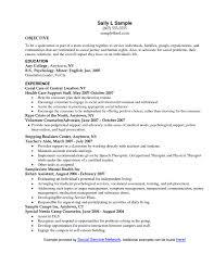 Resume Objective Social Work