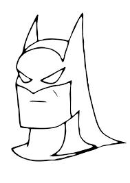 Mask Of Batman Coloring Page Color Online Print