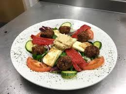Oakmere Tea Dining Room Falafel Halloumi And Humus Salad