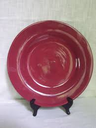 Cool Pottery Barn Sausalito Merlot Pink Dinner Plate 12