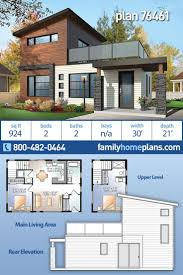104 Contemporary House Design Plans Modern Style Plan 76461 With 2 Bed 2 Bath Modern Floor Beautiful Modern Style