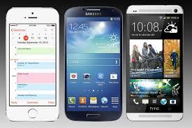 iPhone 5S vs Galaxy S4 vs HTC e Spec parison