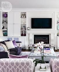 Interior Refined Elegance Mauve Living RoomLavender RoomsPurple
