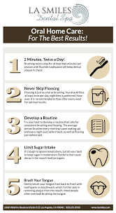 Easy to Digest Oral Home Care Infographic