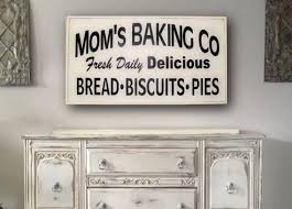 Farmhouse Kitchen Decor Sign Wall Framed Moms Baking Co Large