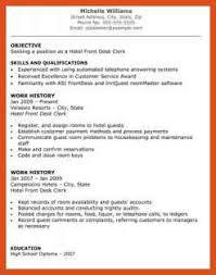 resume cv cover letter hotel front desk objective resume