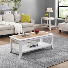 b d home wohnzimmer couchtisch weiß landhaus mit ablage wohnzimmer tisch sandeiche kaffeetisch sofatisch holztisch für ihr wohnzimmer foyer