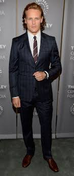 Scottish Actor Sam Heughan In Burberry Tailoring To Attend The Preview Of Artistry Outlander
