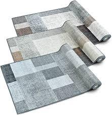 casa pura teppichläufer lucano patchwork muster im vintage look viele größen moderner teppich läufer für flur küche schlafzimmer niederflor