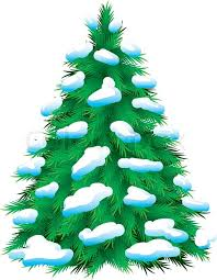 Green Fur Tree Covered With Snow Isolated Christmas Picture