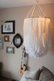 DIY Statement Cloth Chandelier