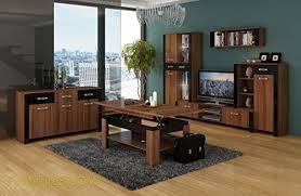 wohnzimmer möbel satz tv wohnwand hugo i tv bank freistehend große und klein display einheit wandhängend regal plus große kommode und