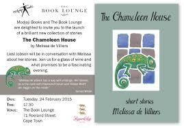 100 Chameleon House Book Launch The By Melissa De Villiers
