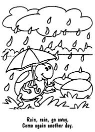 WEEK 10 COLORING PAGE Rain