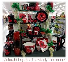 Midnight Poppies Dinnerware By Mindy Sommers As Displayed In Hobby Lobby