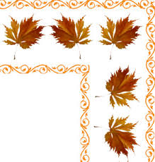 fall pictures soft red green fall leaves clip art border corner