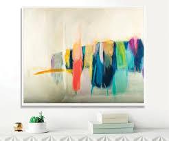 seelandschaft wohnzimmer wand dekoration acryl gemälde moderne kunst abstrakte malerei originale abstrakte malerei camilo mattis