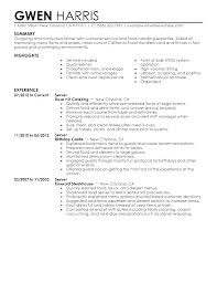Cover Letter Waitress Example Resume Examples Waiter Skills Resumes Download Food Server Doc