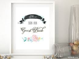 Please Sign Our Guestbook Wedding Printable Pastels Chic