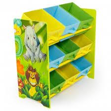 rangement jouet chambre meuble de rangement étagère jouet panier chambre enfant motif jungle