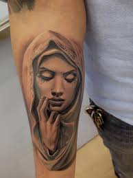 Beautiful Work By Rember Orellana Dallas Texas Virgin Mary Tattoos PiercingsTatoosFace