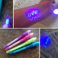 Hot Magic 3xinvisible Ink Spy Pen Built in UV Light Marker Secret