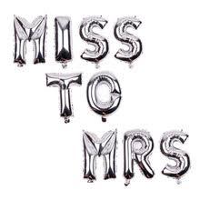 XXPWJ MISS MRS Letter Set Aluminum Balloon Party Decorative