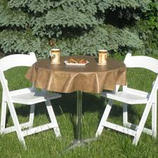 Round Patio Tablecloth With Umbrella Hole by Heavy Duty Vinyl Tablecloths Yourtablecloth