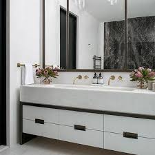 Trough Sink With Two Faucets by One Bathroom Sink Two Faucets Design Ideas