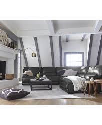 Cindy Crawford White Denim Sofa by Living Room Furniture Sets Macy U0027s