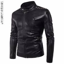 compare prices on mens black leather jacket online shopping buy