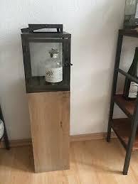 holz kerzensäule stehle mit glaskasten glashaus