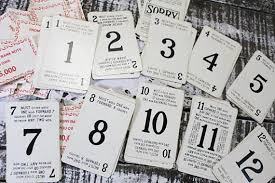 Vintage Playing Cards With Numbers Sorry Board Game Wedding Table Number