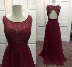 2016 new burgundy bridesmaid dresses real pictures jewel neck