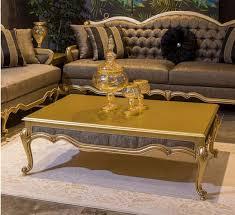 casa padrino luxus barock couchtisch gold grau 126 x 91 x h 42 cm edler massivholz wohnzimmertisch im barockstil barock wohnzimmer möbel
