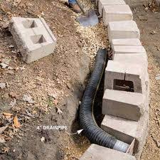 retaining wall drainage landscaping lawn care diy chatroom
