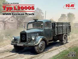 100 German Trucks 135 Typ L3000S WWII Truck 100 New Molds Modelling