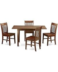 East West Furniture Norfolk 5 Piece Slat Back Dining Table Set